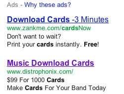 Google adwords for zankMe.com