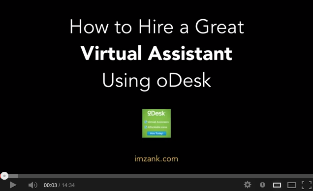 Hire a great virtual assistant using oDesk